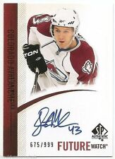 10/11 SP AUTHENTIC FUTURE WATCH AUTOGRAPH RC #293 Justin Mercier #675/999