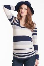 Lilac Maternity Hailey Top Navy Stripe - XS (2-4)