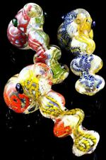 Thick Color Changing Striped Glass Hammer Bubbler