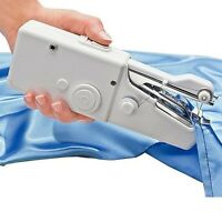 CORDLESS HAND HELD SINGLE STITCH MINI PORTABLE FABRIC SEWING MACHINE HOME TRAVEL