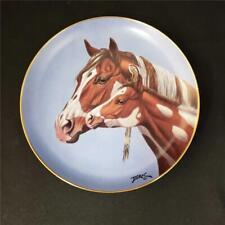 = Danbury Mint Morning Greeting Plate By Derk Hansen Heritage Of Horses H1426