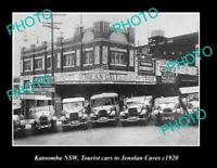 OLD 8x6 HISTORIC PHOTO OF KATOOMBA NSW JENOLAN CAVES TOURIST CARS c1920