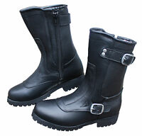 NEW WOMEN'S DIVA  MOTORCYCLE LEATHER BOOTS BEST LADY BOOT ON THE MARKET