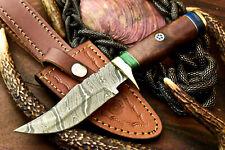 Custom Hand Made Damascus Steel Blade Hunting Knife | Superb Walnut Wood