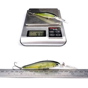 8PCS Crank Minnow Fishing Crankbait Fish Bass lure hook baits 11.5cm/11g