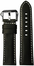 22x22 RIOS1931 for Panatime Black Vintage Leather Watch Strap for Panerai