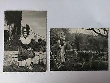 2 Provence France B&W Postcards c1950 Jeunes Comtadines