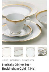 Noritake Buckingham Gold 64 Pcs Dinnerset & Teaset Brand New