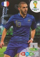 N°168 KARIM BENZEMA # FRANCE PANINI CARD ADRENALYN WORLD CUP BRAZIL 2014