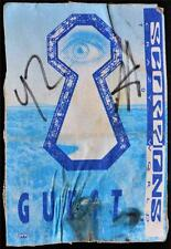 Authentic Silk Backstage Pass Scorpions Crazy World Concert Ticket Guest OTTO