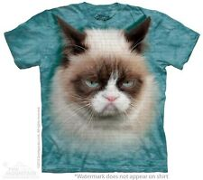 Big Face Grumpy Cat T-Shirt by The Mountain. Giant Head Cute Pet Sizes S-5XL NEW