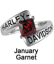 Harley-Davidson® January Birthstone Ring - Garnet - size 9  D4J8789