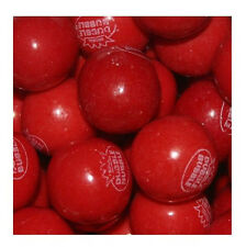 "Very Cherry Gumballs 2 Pounds 1"" 24mm Bulk Vending Approx 100 Gum Balls"