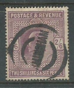 GB KEVII 1902 2/6d dull purple SG262 good used. Birmingham cancel. (5940)