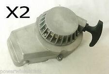 PU001X2 PACK OF 2 SILVER STANDARD PULL START FOR 49CC MINI MOTO/DIRT/QUAD BIKE