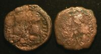 LOT 2X RARE BYZANTINE JUSTIN II AND SOPHIA COIN - AG CONDITION