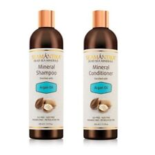 SEAMANTIKA MINERAL SHAMPOO+CONDITIONER-ARGAN OIL natural hair shine Dead Sea
