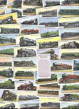 "IMPERIAL PUBLISHING 1994 SET OF 50 ""WILLS - RAILWAY ENGINES"" CIGARETTE CARDS"