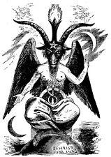 Devil Goat Baphomet 2 Temporary Fake Tattoos Waterpoof Pagan Worship Halloween