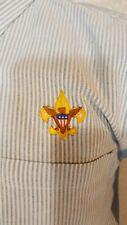 Boy Scouts Of America Bsa Tenderfoot Long Slv Blue Pinstripe Dress Shirt Small