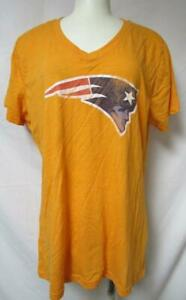 New England Patriots Womens Size X-Large Short Sleeve V-Neck T-Shirt A1 2979