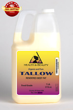TALLOW ORGANIC FOODS GRASS-FED RENDERED BEEF FAT COOKING OIL 100% PURE 7 LB