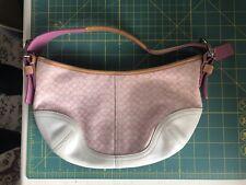 Coach Bag M33-6351 Pink Logo Leather