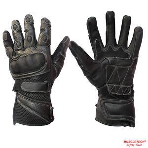 MTECH Motorbike Summer Mesh Gloves Leather Summer  Gloves Perforated Kevlar