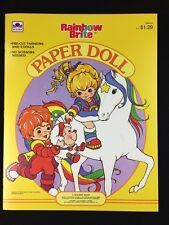 Vintage 1984 Rainbow Brite Hallmark Cards Golden Book Paper Dolls Uncut