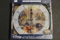 "DISNEY~MICKEY & MINNIE ""Sweetheart Holiday"" XMAS~THOMAS KINKADE~ WALL CLOCK pudo"