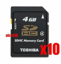 10x Toshiba 4GB SD SDHC Class 4 Memory Card Bulk Package Lot of 10pcs AU