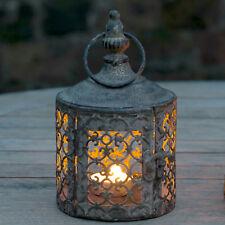 Small Antique Vintage Style Moroccan Lattice Lantern Candle Holders Tea Lights