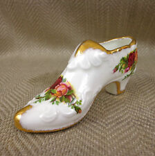 Royal Albert Shoe Old Country Roses Bone China England Miniature Vintage