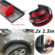 "2X 59"" Universal Car Fender Lip Flare Wheel Moulding Trim Protector Carbon Look"