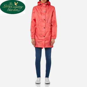 JOULES WOMANS GOLIGHTLY RAIN COAT WATERPROOF MAC RED SKY PINK 8 10 12 14 16