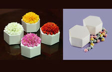50 Hexagon Wedding Favor Boxes Party Baby Shower Candy Chocolate box Gift Box