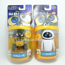 New In Box Wall-E and Eee-Vah EVE Mini robot Action Figures PVC Toy Great Gift