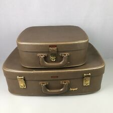STARLINE Airport Fibreglass Reinforced Vintage 1950s Pair Of Traveling Suitcases