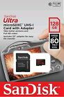 128GB SanDisk Ultra Micro SDXC UHS-I 80MB/S SD Memory Card Class 10 UK SELLER