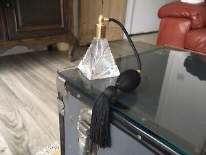 Art Deco Style Glass Perfume Atomiser Bottle