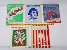Lot of Five Vintage Sheet Music Holiday Inn White Christmas Elvis Blue Christmas