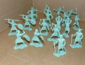 Marx Vikings, and Knights play set 54mm Vikings in light green soft plastic