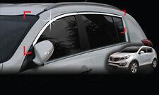 Zubehör für Kia Sportage 2010-2015 obere Chrom Fensterleisten Seitenleisten