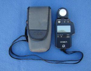 Minolta Auto Light Meter IV F Camera Flash Meter & Case Excellent
