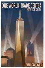 One World Trade Center New York City, Freedom Tower, NY Lights - Modern Postcard