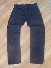 mens black levi 501 jeans - size 32/32 good condition