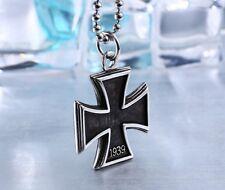 Eisernes Kreuz Anhänger 1813/1939 +Kette alles Edelstahl beidseitig tragbar