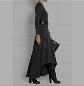 Michael Kors womens Smart Work Party Maxi Dress Charcoal Long Size M~New