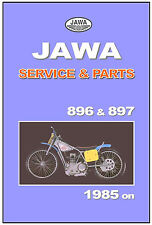 JAWA ESO Workshop & Parts Manual Speedway 896 & 897 4V 1985 on Service & Repair
