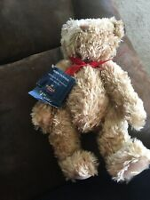 "Teddy Bear Hallmark 100th Anniversary Gold Teddy-Tennial Bear 13"" Plush Jointed"